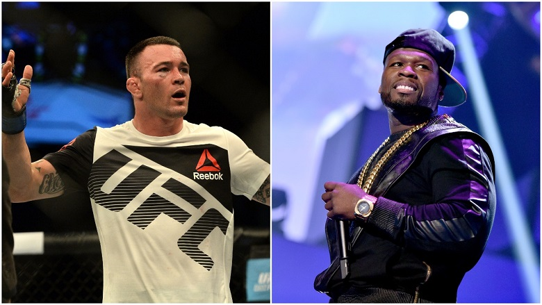 Colby Covington and 50 Cent