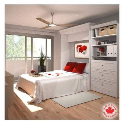 white queen murphy bed kit
