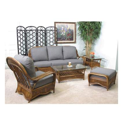 rattan living rooom furniture set