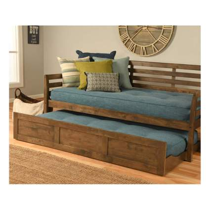rustic walnut daybed with trundle