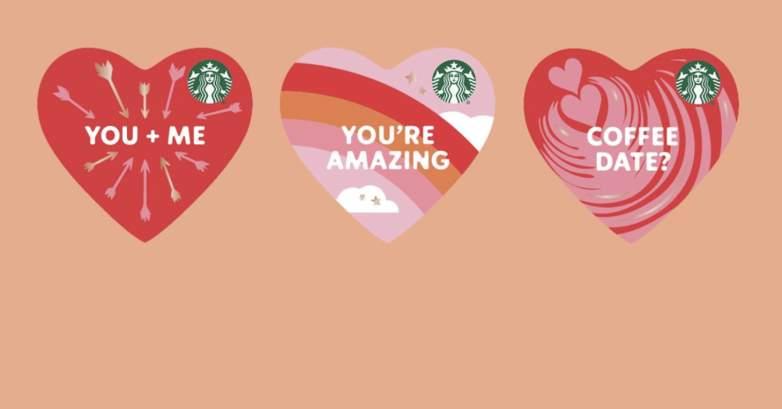 Starbucks Valentine's Day gift cards