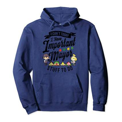 Animal Crossing Important Mayor Stuff Hoodie