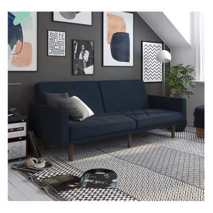 upholstered futon sofa