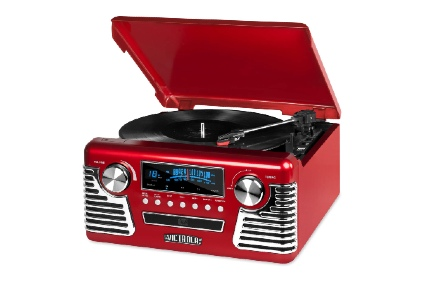 Victrola 50's Retro 3-Speed Bluetooth Turntable with Stereo, CD Player and Speakers,