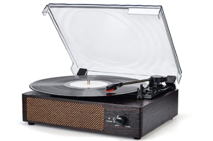 Wireless Portable LP Phonograph with Built in Stereo Speakers