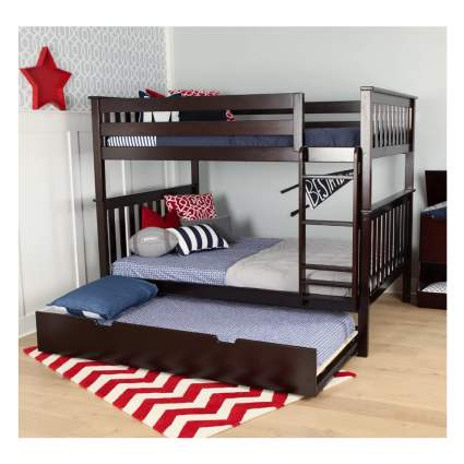 full size bunk beds with twin trundle