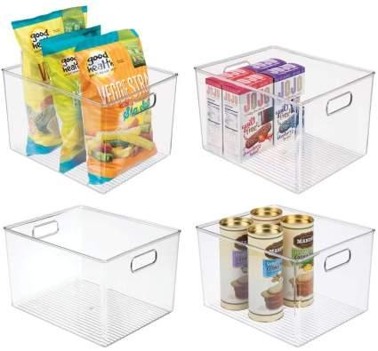 mDesign Plastic Storage Organizer Container Bins