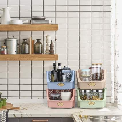 Titan Mall Stackable Storage Bins for Food