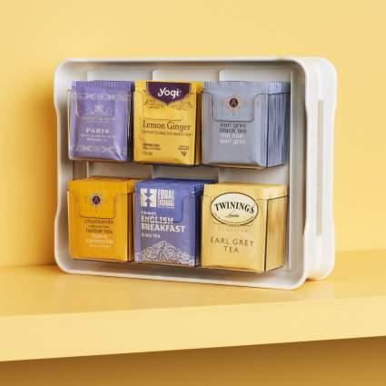 YouCopia 50236 New TeaStand 100+ Tea Bag Organizer, White
