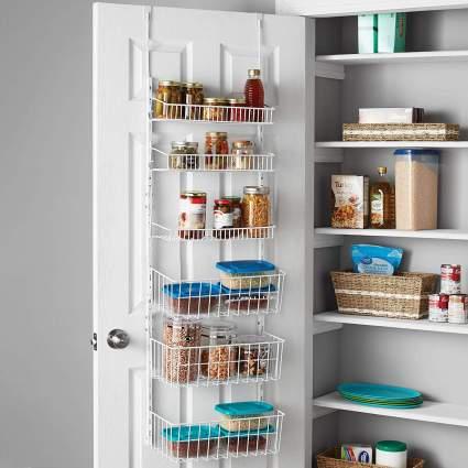 Smart Design Over The Door Adjustable Pantry Organizer Rack