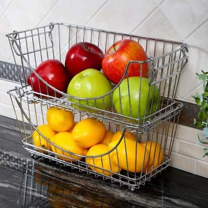 Smart Design Stacking Baskets Organizer