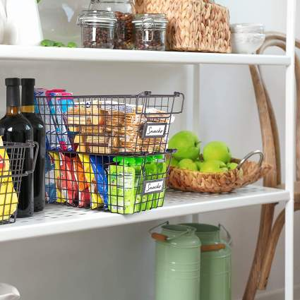 Gorgeous Stackable Wire Baskets For Pantry Storage and Organization