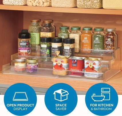iDesign Linus Plastic Expandable Multi-Level Spice Rack