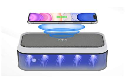uv phone sanitizer and wireless charger