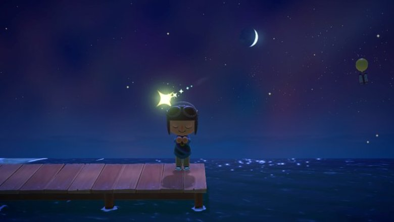 animal crossing new horizons shooting star