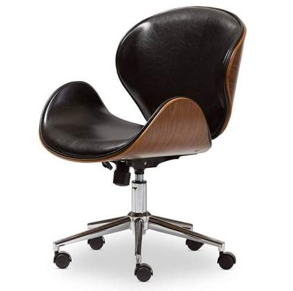 Flash Furniture Office Chair in Black Leather