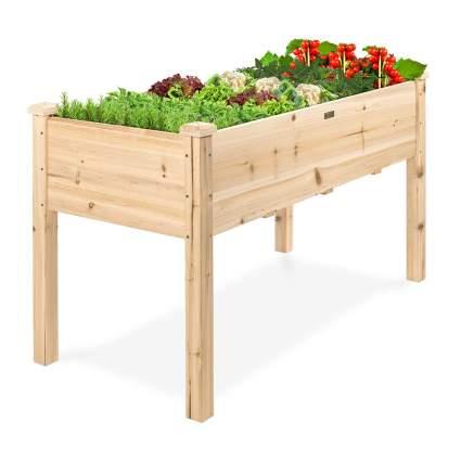wood raised garden box