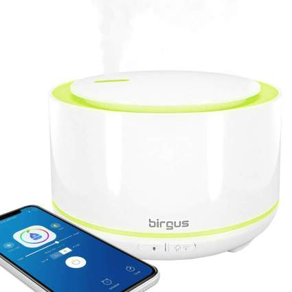 Birgus Color Changing Smart Enabled Essential Oil Ultrasonic Diffuser