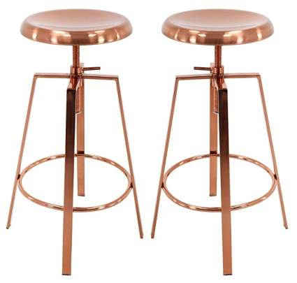 Brage Living Adjustable Height Bar Stools
