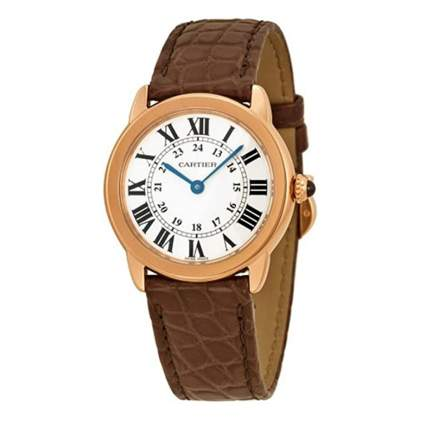 cartier 18k gold women's watch