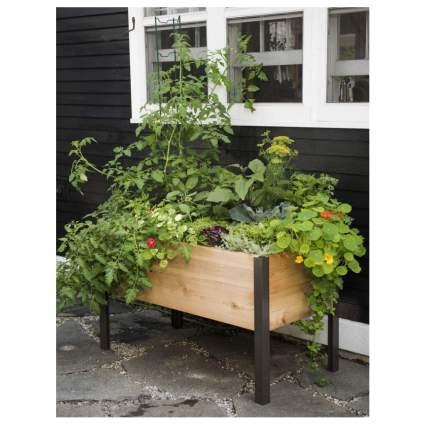 cedar raised planter box