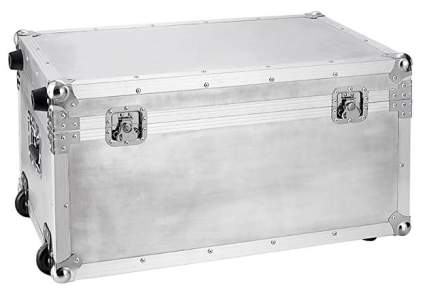 Industrial: DormCo VIN Steel Plated Silver Trunk