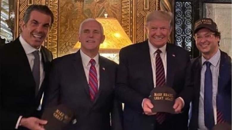 President Trump and Fabio Wajngarten