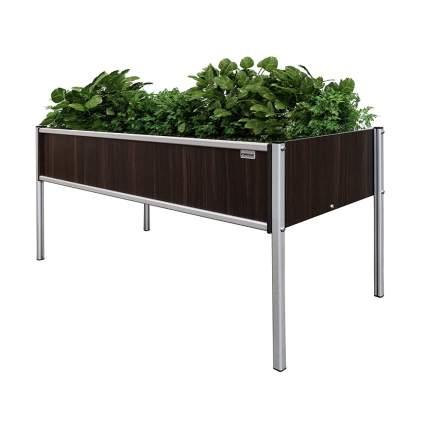 raised planter box with metal legs