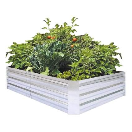 galvanized raised planter box