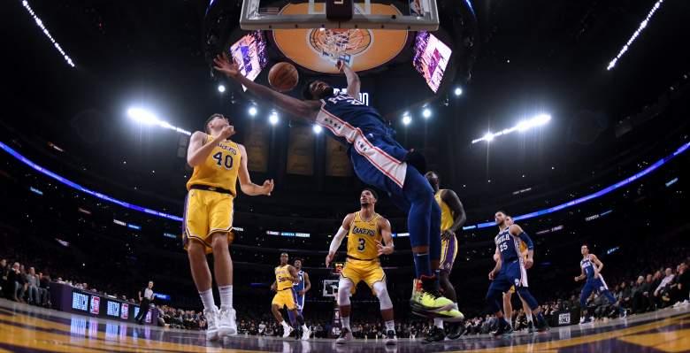 LA Lakers v Philadelphia 76ers watch