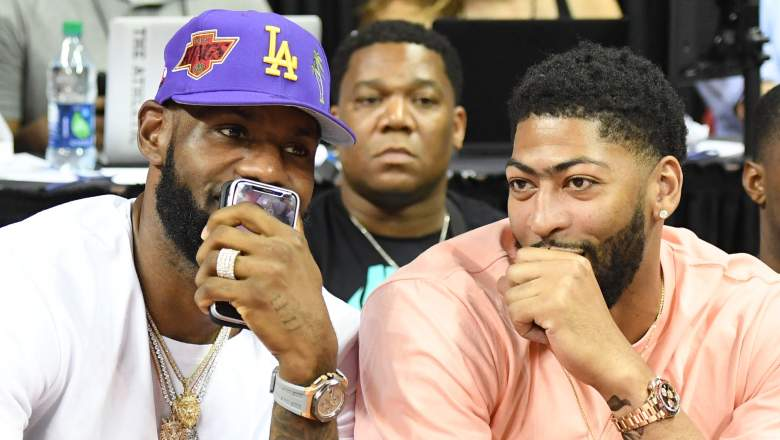 LeBron James, at left, and Anthony Davis of the Lakers