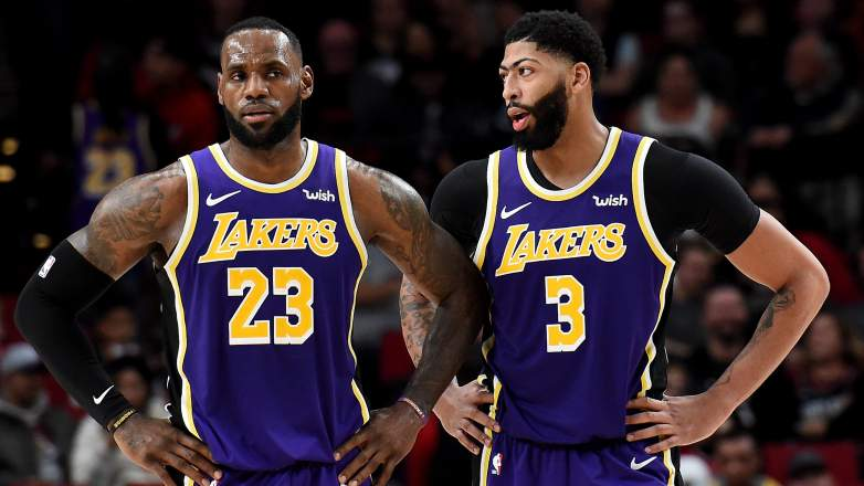 Lakers LeBron James and Anthony Davis