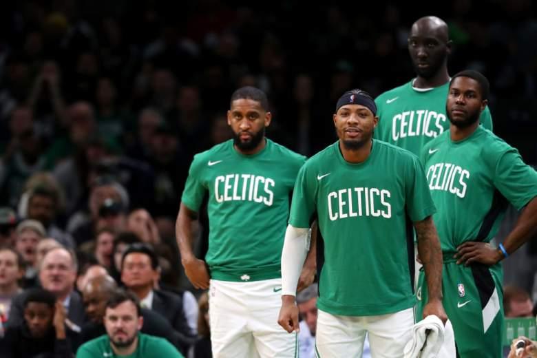 Boston Celtics bench