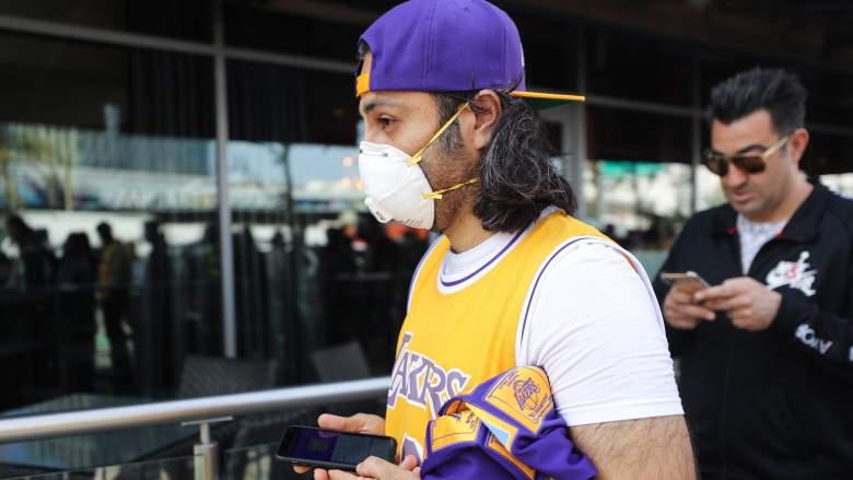 LA Lakers Fan During Coronavirus Outbreak