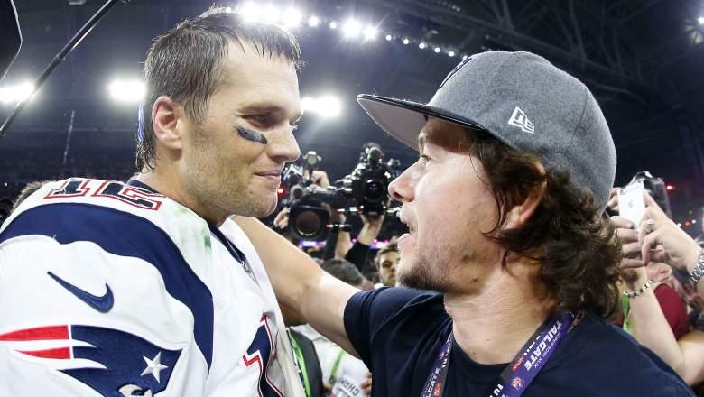 Tom Brady and Mark Wahlberg