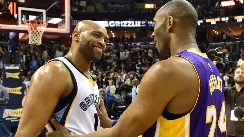 Vince Carter and Kobe Bryant in 2016