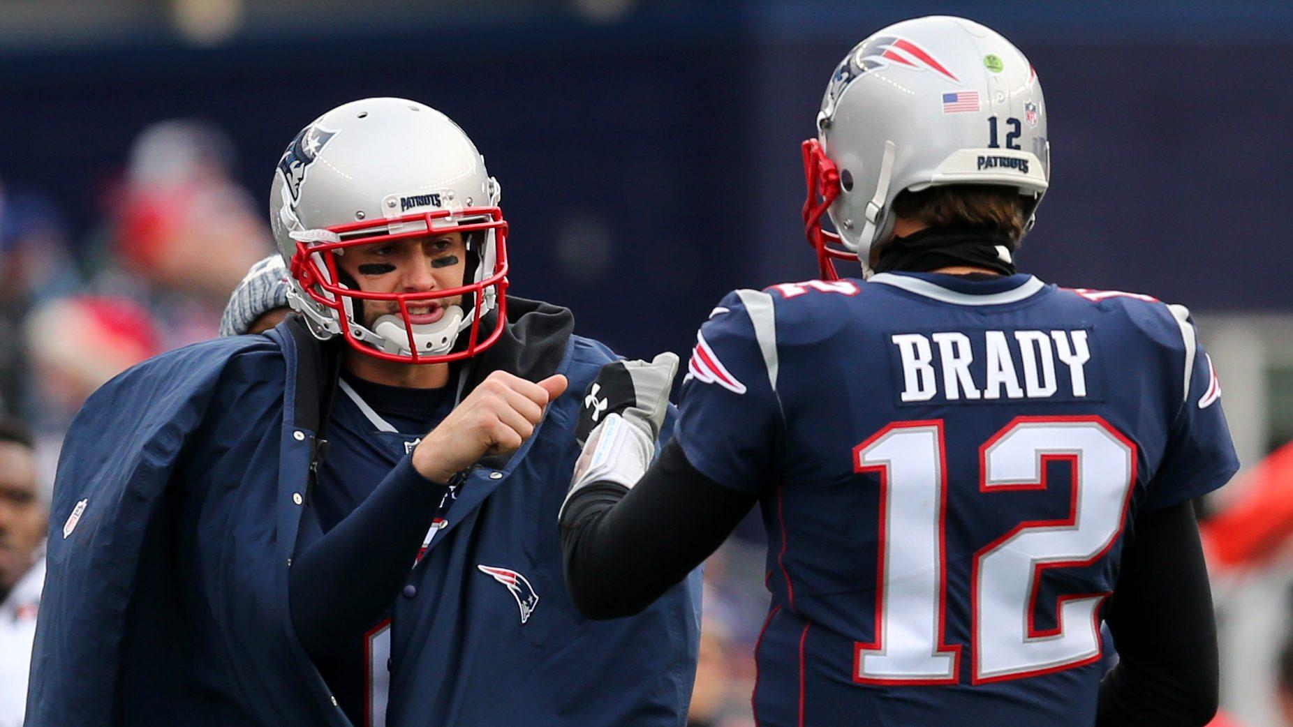 Brian Hoyer and Tom Brady