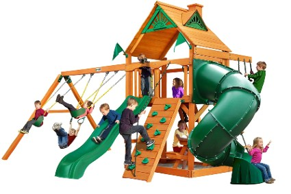 Gorilla Playsets 01-0005-AP Mountaineer Wooden Swing Set