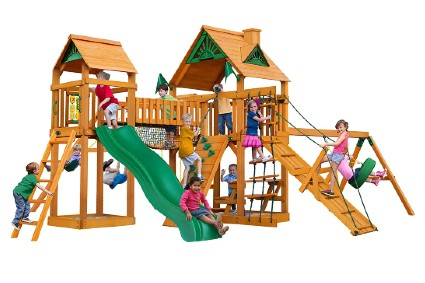 01-0006-AP Pioneer Peak Wood Swing Set
