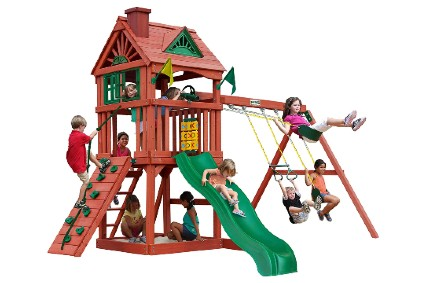 Gorilla Playsets 01-0021 Nantucket Wood Swing Set