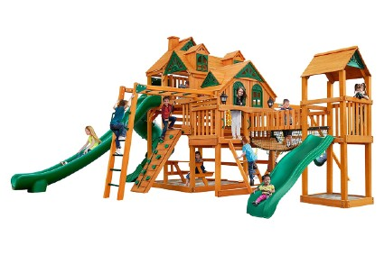 Gorilla Playsets 01-0090-AP Empire Extreme Wood Swing Set