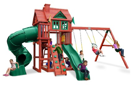 Gorilla Playsets 01-0096 Nantucket Deluxe Wood Swing Set