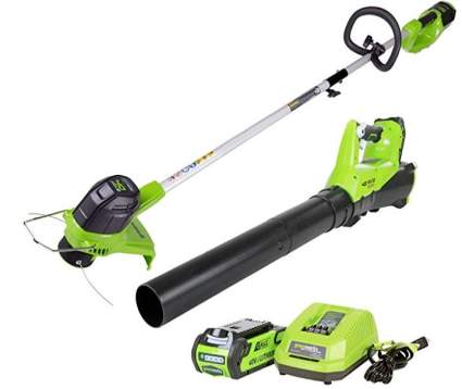 Greenworks G-MZX 40V Cordless String Trimmer and Leaf Blower Combo Pack