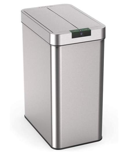 hOmeLabs No Touch Motion Sensor Trashcan with Butterfly Lid