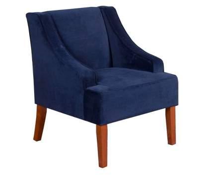 HomePop Velvet Swoop Arm Accent Navy Chair