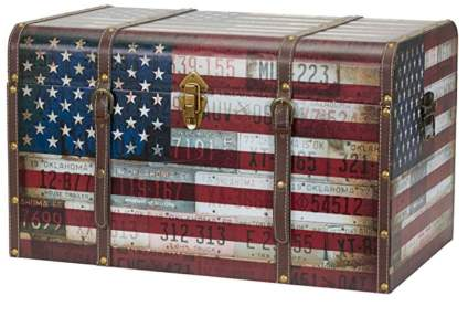 Household Essentials Storage Trunk – Americana Design