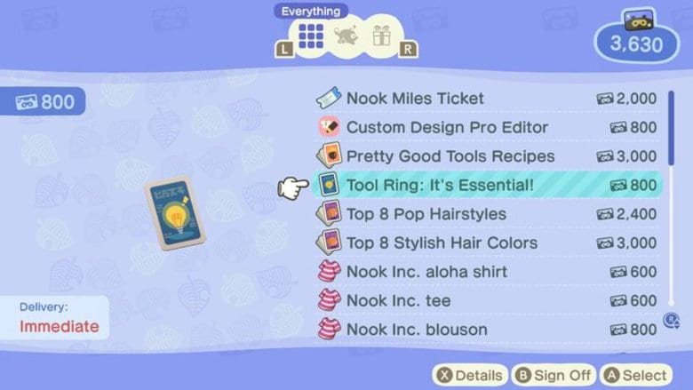 how to get the tool ring in animal crossing new horizons
