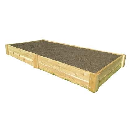 cedar raised garden bed