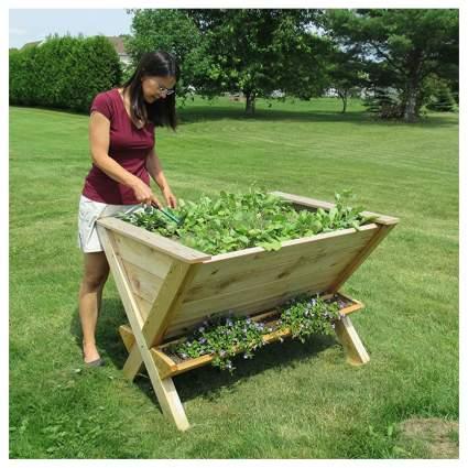 wedge raised cedar garden box