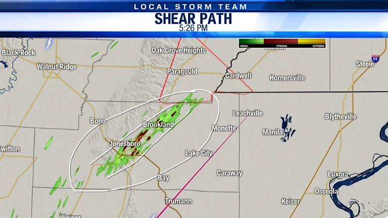 Jonesboro tornado map